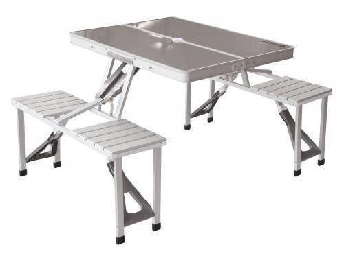 алюминиевый стол / удобный для кемпинга / раскладной и 4 стула /