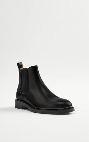 Nowe skórzane czarne buty botki ZARA 42 399pln