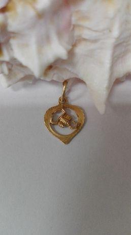 Złoty wisiorek - skorpion, próba 585