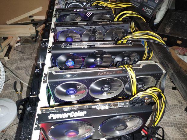 Mining Rig 305 MHS ethereum eth  2 Rtx 3070 RX 6800 Rtx 2080 ti RX 580