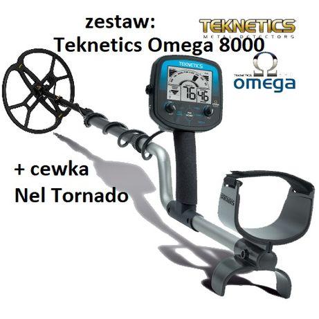 Wykrywacz metali Teknetics Omega 8000 + cewka Nel Tornado
