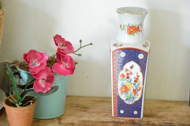 Stary Oryginalny duży WAZON Chińska porcelana wys 25 cm