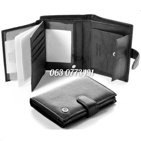 Мужской кожаный кошелек портмоне Boston под документы из Турции