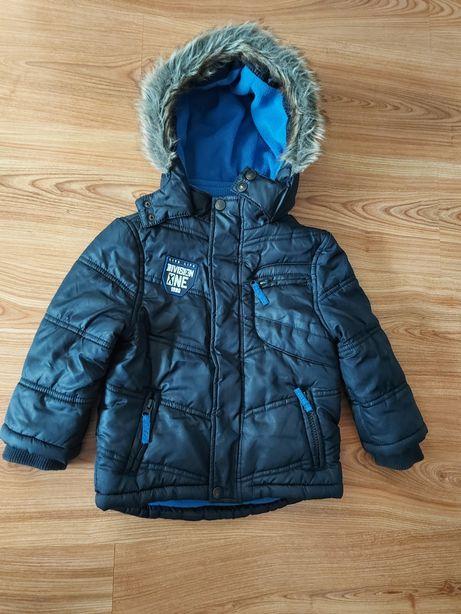 Ciepła kurtka na zimę z zamkiem. Czapka gratis