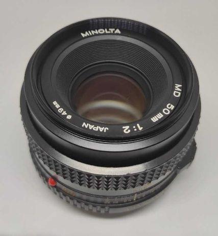 Objectiva Minolta MD 50mm f/2