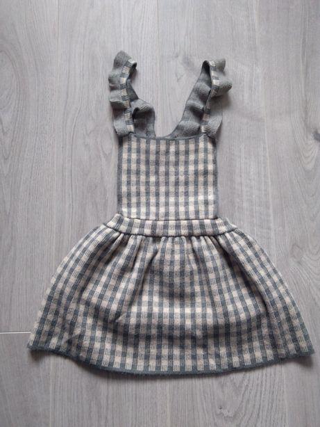 Sukienka Zara 104 / spódnica na szelkach