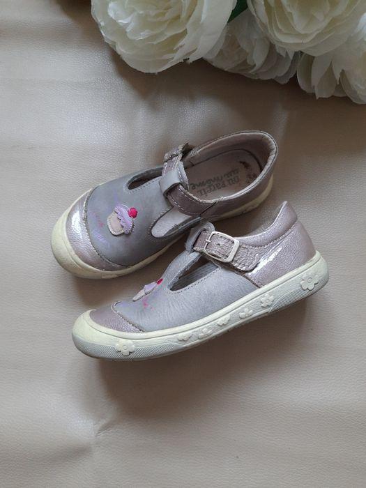 Кожаные туфли на девочку 24-25р Днепр - изображение 1