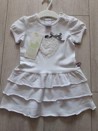 Sukienka Coccodrillo r. 74 nowa biała