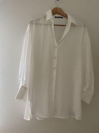 Camisa acetinada Zara