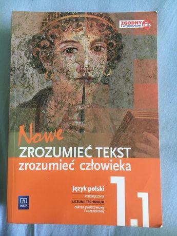 Podręcznik nowe zrozumieć tekst zrozumieć człowieka 1.1 1.2 polski lic