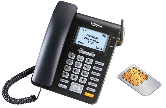 Telefon dla seniora Maxcom MM28D sim biurkowy stacjonarny gsm nowy