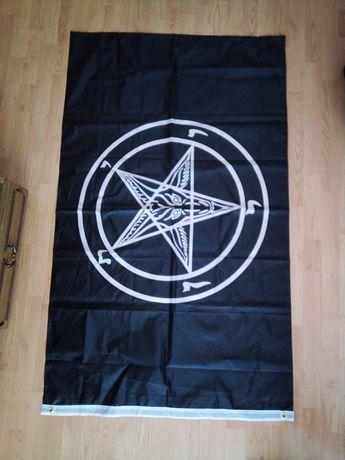 Szatan flaga duża