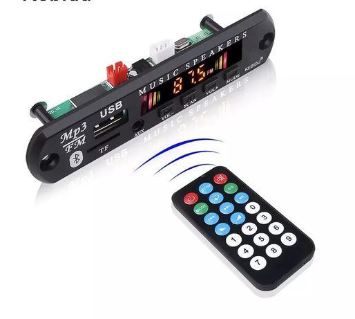 Встраиваемый аудио модуль mp3 Bluetooth FM радио AUX USB TF карта