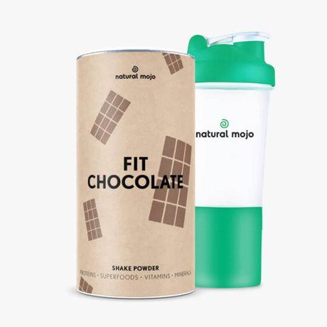 NATURAL MOJO FIT SHAKE-Zestaw Fit Chocolate+ shaker