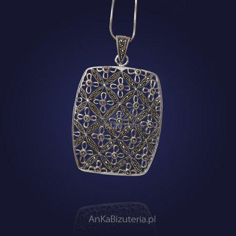 ankabizuteria.pl Wisiorek srebrny z markazytami .