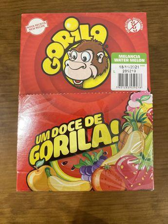 Caixa de pastilhas gorila - melancia + 40 plastilhas bubble gum