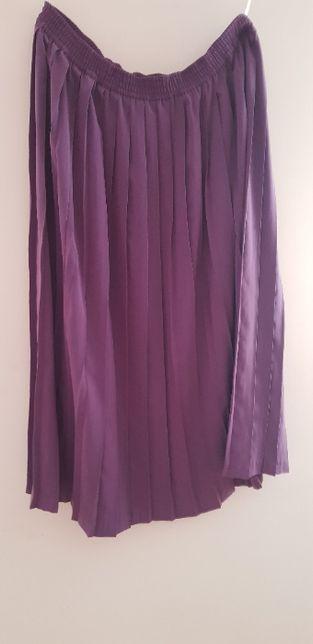 spódnica plisowana fioletowa 42