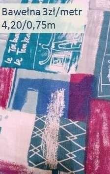 Tkaniny, materiały sprzedam