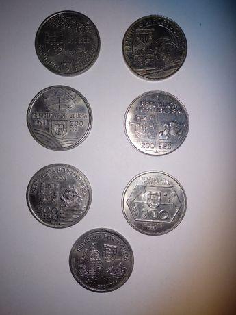 Moedas portuguesas, comemorativas, de 200 escudos