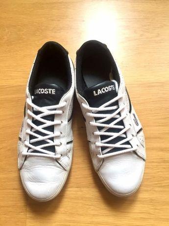 Białe trampki sneakersy tenisówki Lacoste Lacosty skóra naturalna 36