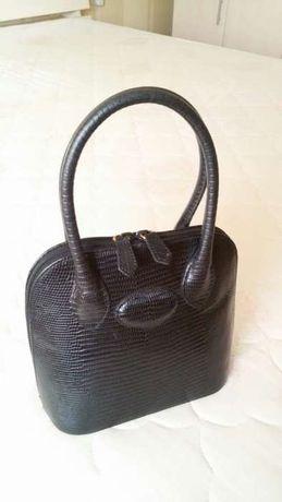 Элегантная женская мини-сумка Marks&Spencer натуральная кожа крокодила