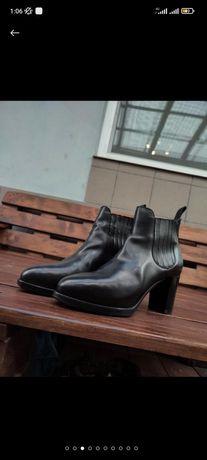 Изысканные ботильоны туфли Santoni Натуральная кожа Италия