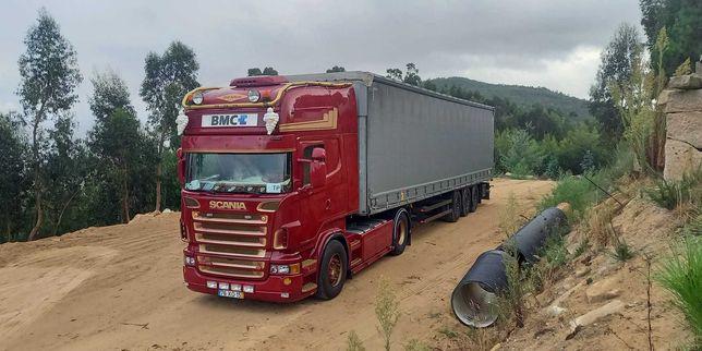 Camião Scania V8 e Semi-Reboque Schmitz