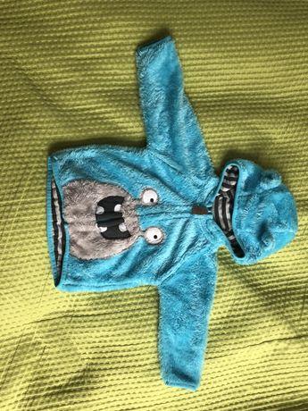 Bluza potworek ze smyka 68 cieplutka