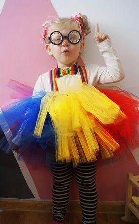Oryginalny strój klauna dla dziewczynki :)