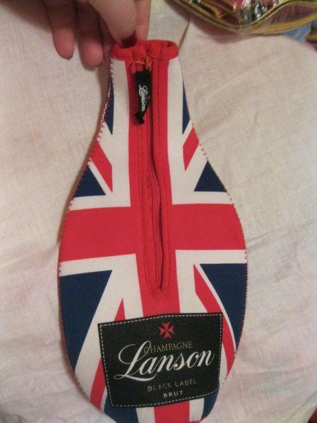 подарок БРИТАНИЯ на бутылку чехол британский флаг на молнии сувенир