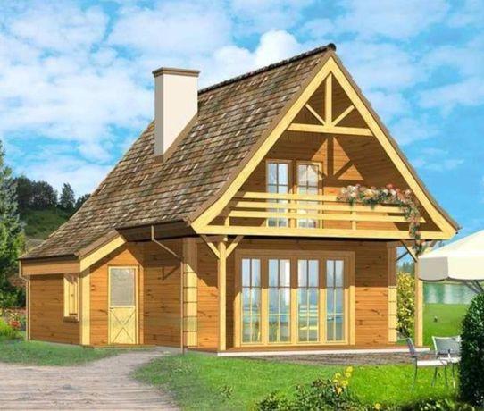 Dom drewniany szkielet domki drewn konstrukcja domku domu całorocznego