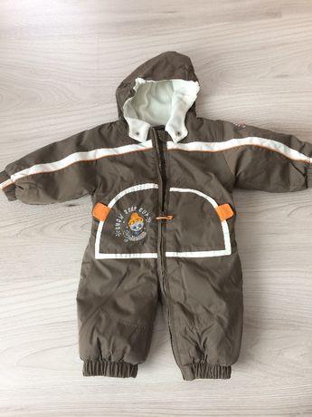 Kombinezon dziecięcy na zimę, czapka, szalik, rękawiczki 62-68cm