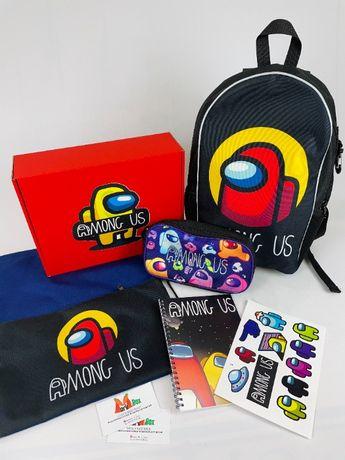 Among Us Школьный набор Рюкзак пенал сумка-мешок Амонг Ас School Box