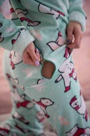 Подарок для двоих пижама ТОП комбинизон с кармашком