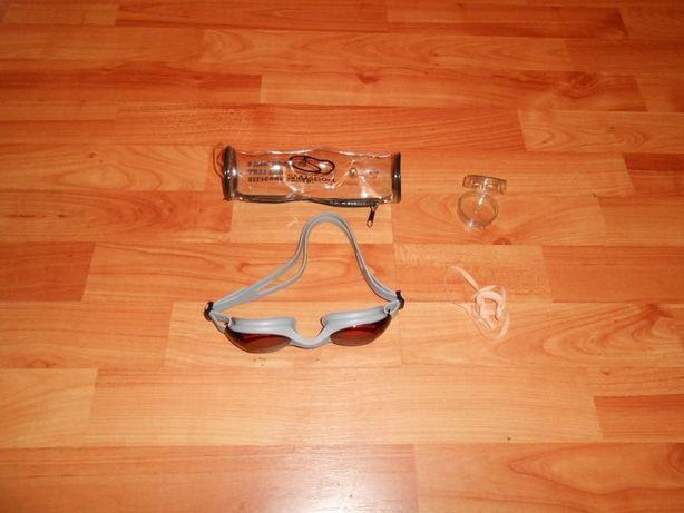 Okulary Do Pływania + Zatyczka Do Nosa NOWE !!!