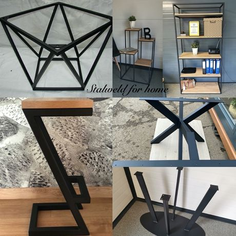 Stelaże loft industrialne do stołów stolików konsolek hokerów regałów