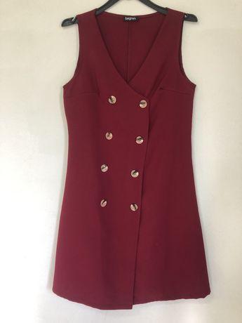 Vestido tipo colete vermelho
