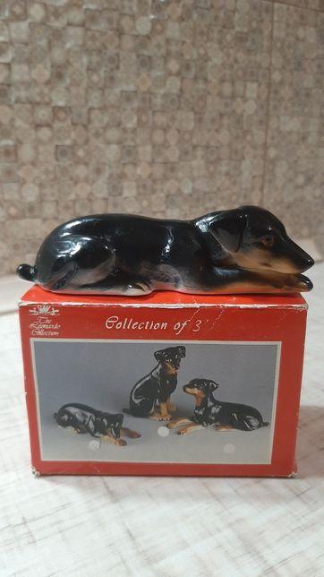 """Фарфоровая статуэтка фигурка собака """"Доберман"""" The Leonardo Collection"""