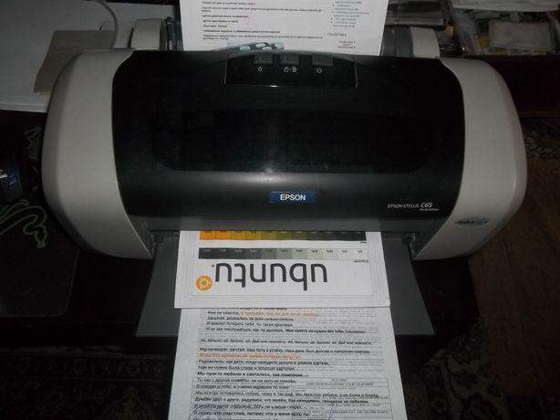 Принтер epson c63/c65 печатает