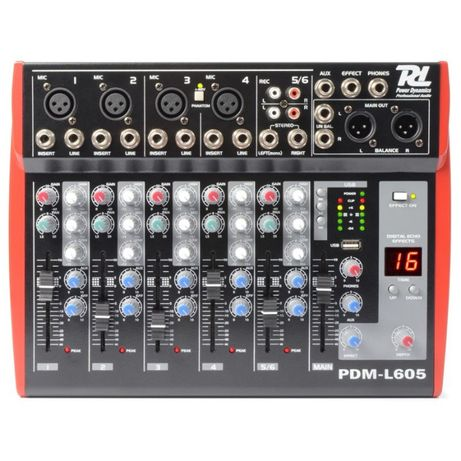 Mikser 6-kanałowy Power Dynamics PDM-L605