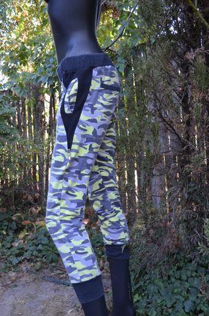 Крутые фирменные спортивные штаны-бриджи,камуфляж
