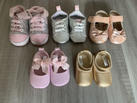 Sapatinhos menina 0 a 6 meses