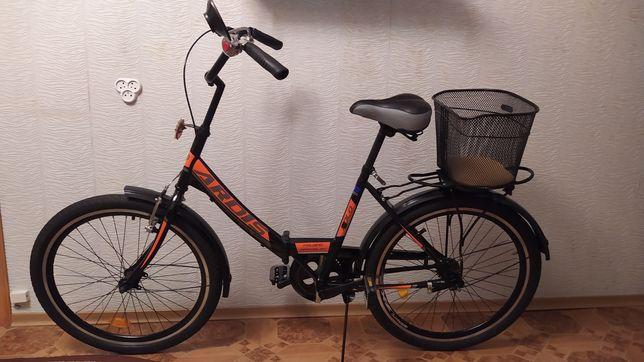 """Городской складной велосипед 24"""" Ardis Fold черно-оранжевый"""