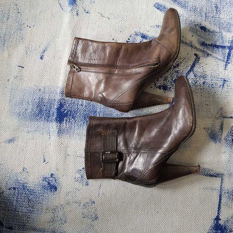 G-star raw, skorzane buty, obcas