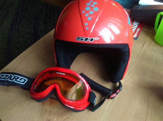 Kask rozm.56 dla dziecka na narty, snowboard + gogle Blizzard