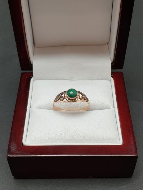 Czarujący złoty pierścionek PR.585 1.5 gr. R.17 skup złota - Ruska 38