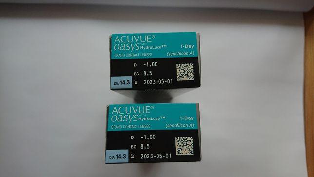 Nowe soczewki kontaktowe Acuvue Oasys 1-Day with HydraLuxe