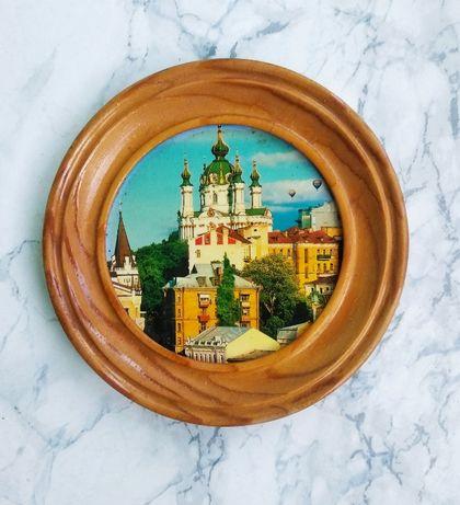 Мини картина. Круглая. Киев- Андреевская церковь