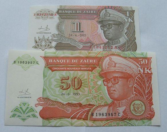 Banknoty ZAIR - Z PACZKI BANKOWEJ - Zestaw Kolekcjonerski
