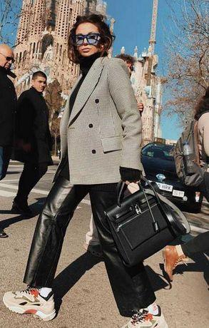 Кожаные брюки Massimo Dutti Maje Sandro Twinset M-L